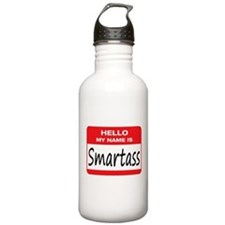 Smartass Name Tag Water Bottle
