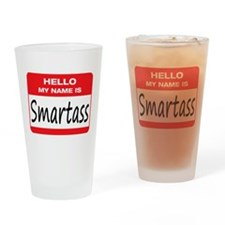 Smartass Name Tag Drinking Glass