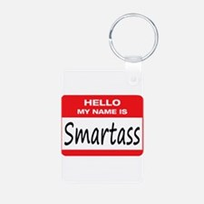 Smartass Name Tag Keychains