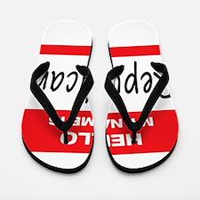 Republican Name Tag Flip Flops