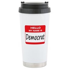 Democrat Name Tag Travel Mug