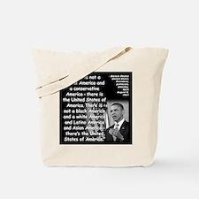 Obama America Quote 2 Tote Bag