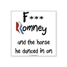 "F Romney Square Sticker 3"" x 3"""