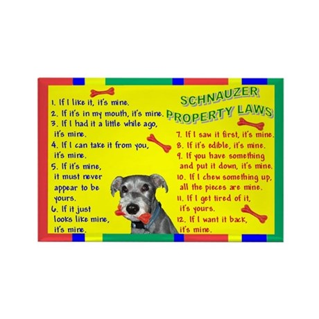 Schnauzer Property Laws 1 Rectangle Magnet