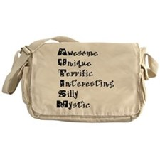 Autism Acrostic Messenger Bag