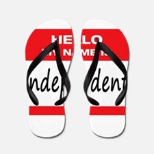 Independent Name Tag Flip Flops