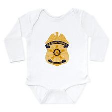 XXX Secret Service Badge Long Sleeve Infant Bodysu