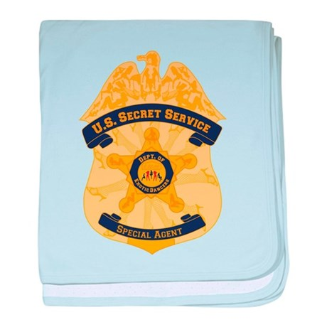 XXX Secret Service Badge baby blanket