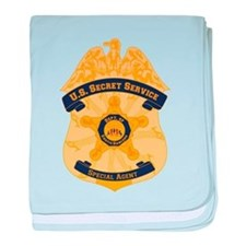 XXX Secret Service Badge baby blanket