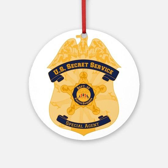 XXX Secret Service Badge Ornament (Round)