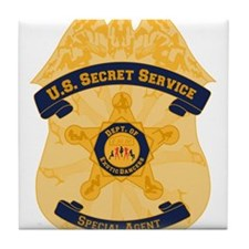 XXX Secret Service Badge Tile Coaster