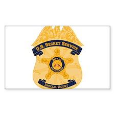 XXX Secret Service Badge Decal