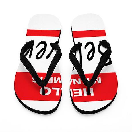 Believer Name Tag Flip Flops