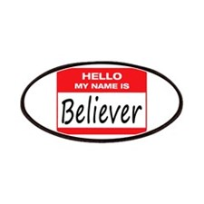 Believer Name Tag Patches