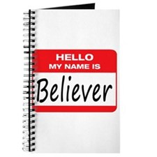 Believer Name Tag Journal