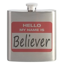 Believer Name Tag Flask