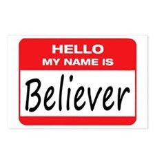 Believer Name Tag Postcards (Package of 8)