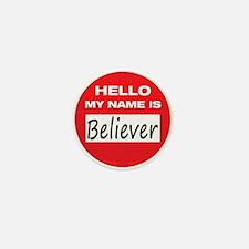 Believer Name Tag Mini Button