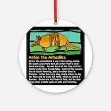 Anton the Armadillo Ornament (Round)