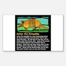 Anton the Armadillo Sticker (Rectangle)