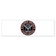 Masonic Bikers Bumper Sticker