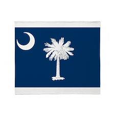 SC State Flag Throw Blanket