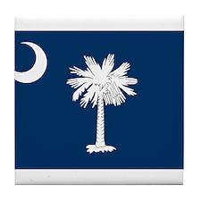 SC State Flag Tile Coaster