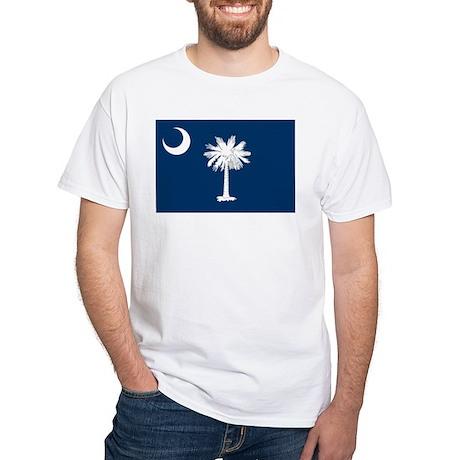 SC State Flag White T-Shirt