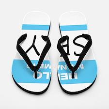 Sexy Name Tag Flip Flops