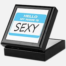 Sexy Name Tag Keepsake Box