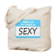 Sexy Name Tag Tote Bag