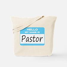 Pastor Name Tag Tote Bag