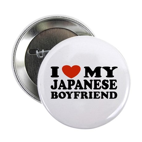 I Love My Japanese Boyfriend Button