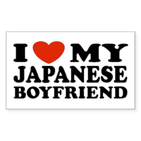 I Love My Japanese Boyfriend Rectangle Sticker