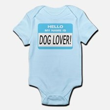Dog Lover Name Tag Infant Bodysuit