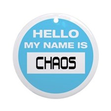 Chaos Name Tag Ornament (Round)