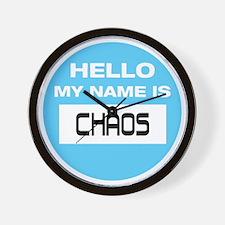 Chaos Name Tag Wall Clock