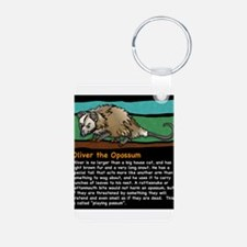 Oliver the Opossum Aluminum Photo Keychain