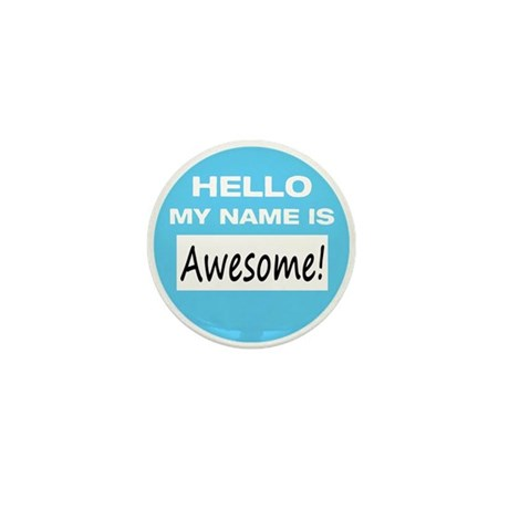 Awesome Name Tag Mini Button (10 pack)