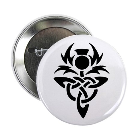 """Tribal Thistle 2.25"""" Button (10 pack)"""