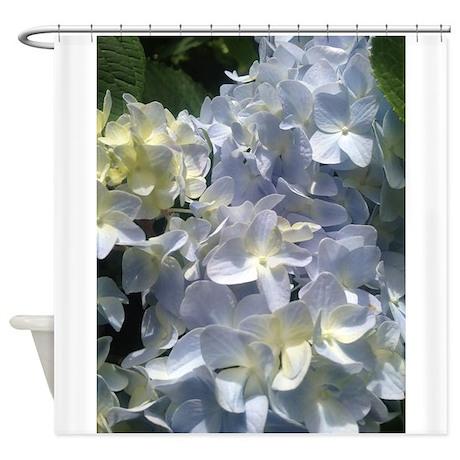 Light Blue Hydrangea Flower Shower Curtain By Segalasphotography