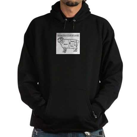 Know Your Cuts of Lamb Hoodie (dark)