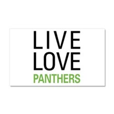 Live Love Panthers Car Magnet 20 x 12