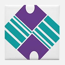 Artistic Geometric Delight Tile Coaster