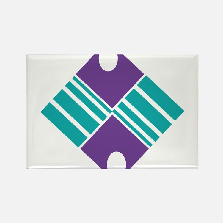 Artistic Geometric Delight Rectangle Magnet