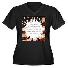 Cute Political issues Women's Plus Size V-Neck Dark T-Shirt