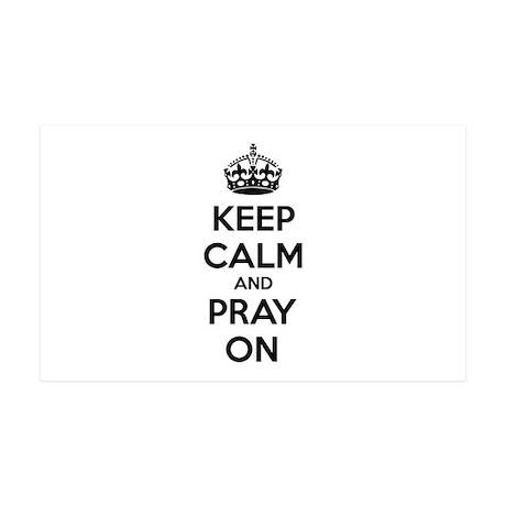 Keep calm and pray on 38.5 x 24.5 Wall Peel