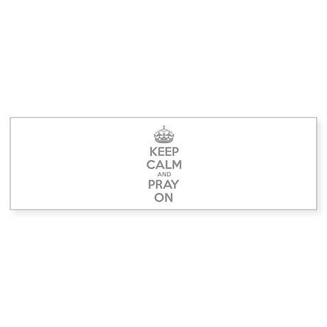 Keep calm and pray on Sticker (Bumper)