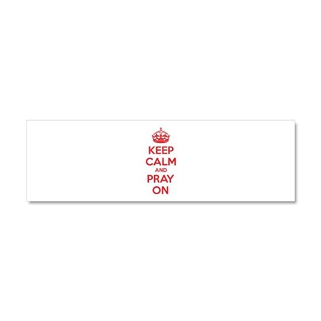 Keep calm and pray on Car Magnet 10 x 3