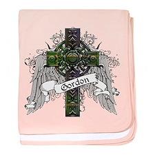 Gordon Tartan Cross baby blanket